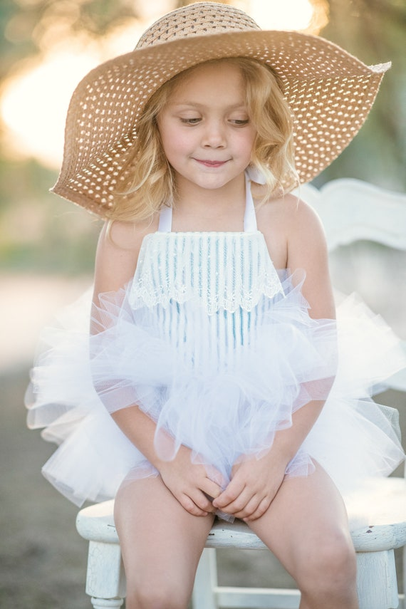 Victorian Lace & Ticking Tutu Dress - Short Ballet Skirt