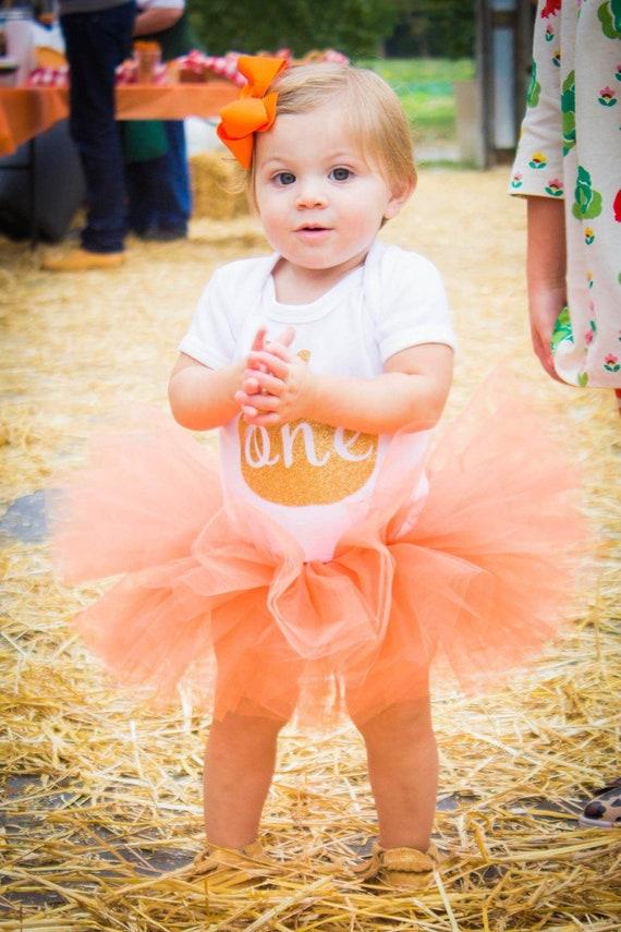 Baby Toddler Orange Tutu perfect Halloween Costume Tutu for Baby or Toddler
