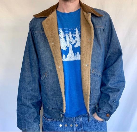 Vintage Denim Sherpa Wrangler Jacket