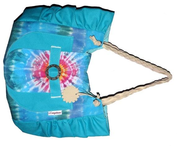 Einzelstück Sommer Tasche In Tie-dye Technik