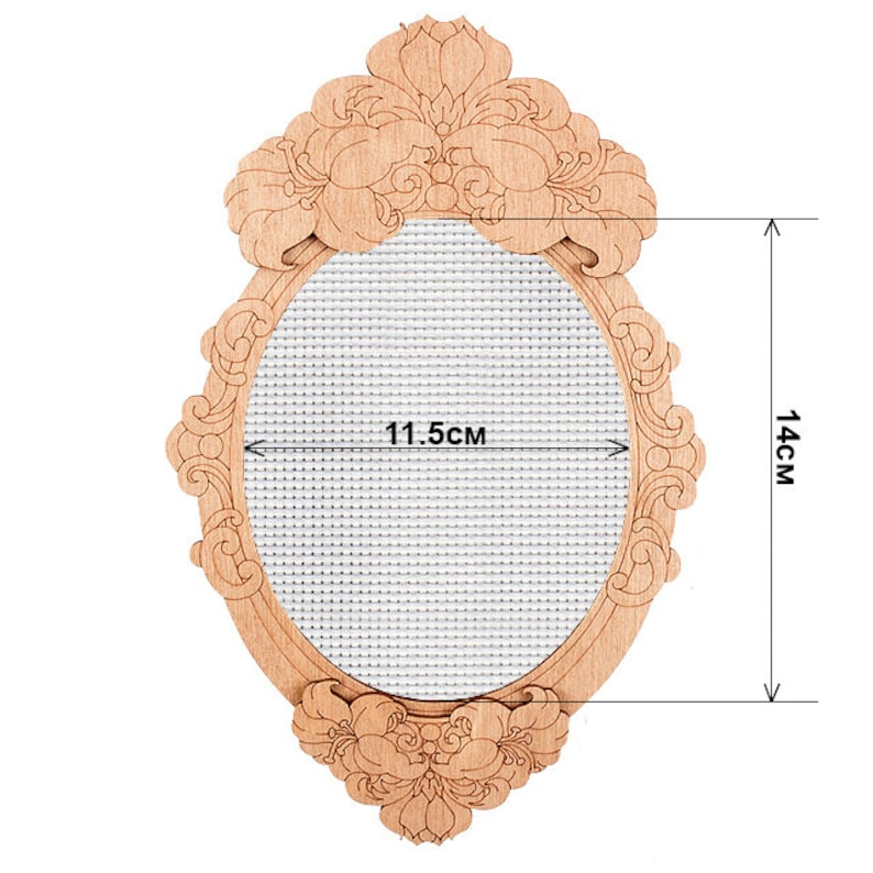 Oval stretched blank canvas decorative embroidery display frame embroidered picture DIY craft kit plywood stitching frame handmade decor