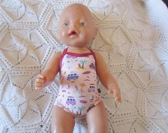 Puppen & Zubehör Puppenbademantel und Badeanzug passend für Krümel 43 cm