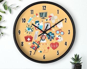 See Estimated Delivery 10 Wall clock Nurse #6 rn lpn Practitioner Healthcare Nursing Angel Birthday Gift