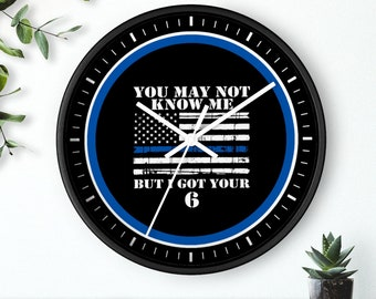 10 Wall clock POLICE #19 Officer Dept Cop Hero Law Enforcement Thin Blue Line Birthday Gift