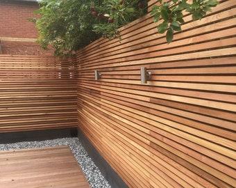 Western Red Cedar SertiWOOD Battens-Screen Slats (21 Pack) 1.65m2 Contemporary Fence or  Cedar Cladding