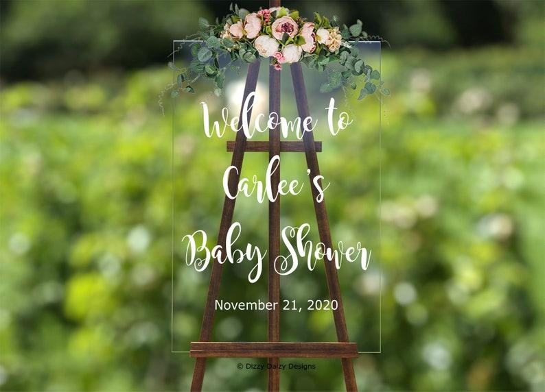 Vinyl Decal Baby Shower Welcome Sign Custom Baby Shower Decal Baby Shower Sticker Baby Shower Mirror Decal Baby Shower Decal
