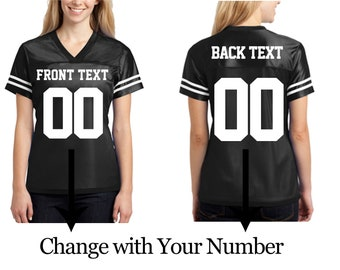 aabf31727fa Customized Ladies Jersey with Your Team Name   Number Personalized Text  Athletic Your Custom Text Women Polyester Jersey T-Shirts