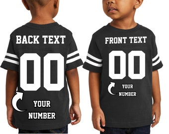 8e4f621d143 Customized Text Name Number TODDLER Jersey Team Shirts Personalized Boys  Apparel Football Soccer T-Shirt