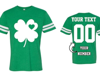fadbd4cc7 4 Leave Shamrock St Patrick's Day Men Women T-Shirt St Patrick's Day Custom  Women Men Tops with Your Name and Number Irish Day Shirt