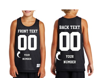 8076f2cceb3 Personalized YOUTH Custom Basketball Jersey - Make Your Own Jersey -  Customized Team Uniforms Customized Baseball Football Soccer Jersey