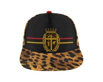 5d862b268ba246 Christian Royalty Leopard Print Snap back Cap D
