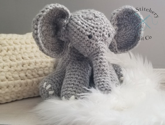 Ellie The Elephant Crochet Stuffed Animal Amigurimi Elephant Etsy