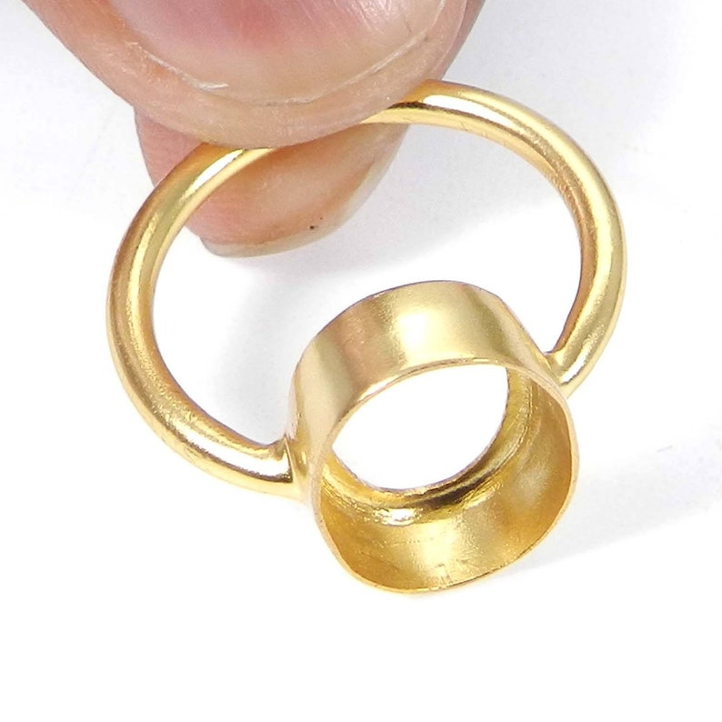 925 sterling silver gold plated oval 6x4mm to 25x20mm stone bezel cup metal casting for ring collet setting