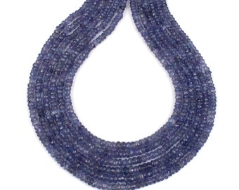 Natural Tanzanite Tiny Beads Strands, Tanzanite Jewelry, Beads Jewelry, Necklace Making Beads, Gift for Her, Drilled Beads