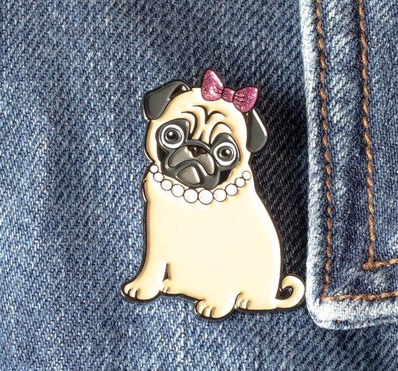 Pug Enamel Pin | Philomena the Pug | Cute Pug Pin | Sassy Pug Gift