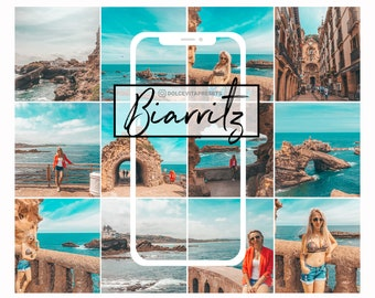 Biarritz , Beach Lightroom Preset Mobile Teal Orange, VSCO, Instagram,  blogger, Portrait, Orange, Travel