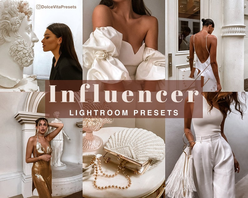 Influencer  3 Luxurious Lightroom Mobile Presets  Brown image 0