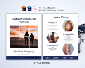 Photography pricing Template Photography price list Template