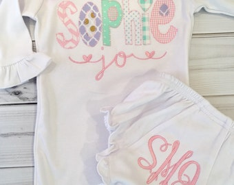 bfb1f2e43c6 Appliqued Baby Gown