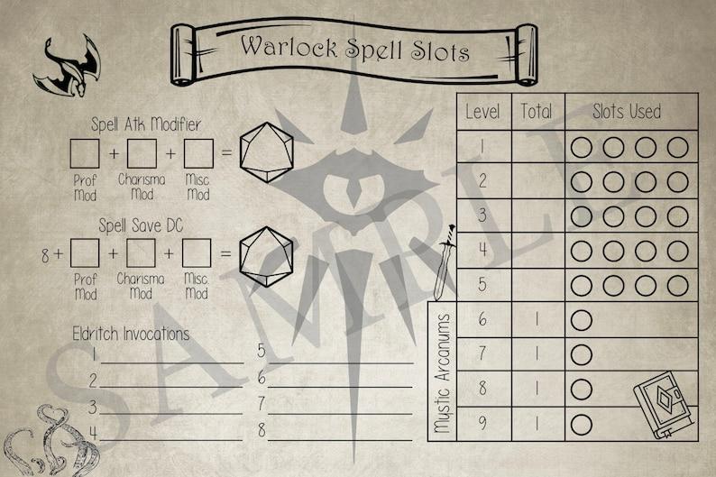 Warlock Spell Tracker