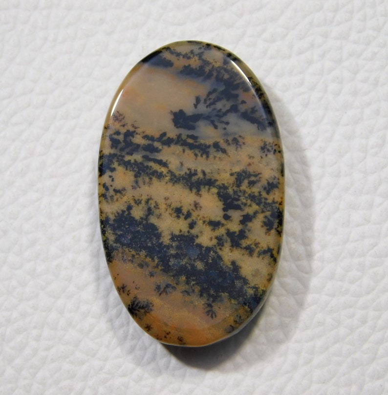 36x22x6  MM Approx Natural Honey Dendrite Agate Cabochon  53.00 Cts Oval Shape Loose Dendrite Gemstone Smooth Agate Jewelry Dendrite Pendent