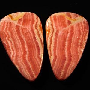 24.Ct 100/% Natural Pinkish  Rhodocrosite Matched Pair Oval 11x24x3MM Approx Cabochon Handmade Pendant Gemstone For Best Gift Collection