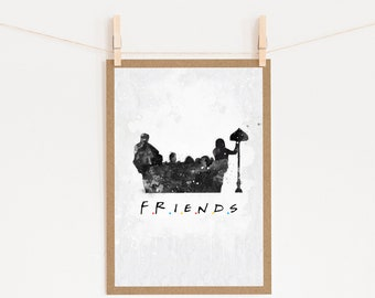 Friends Tv Show Card Etsy
