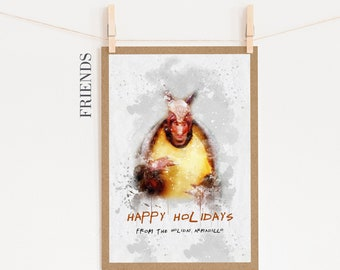 Friends Tv Show Christmas Card Etsy