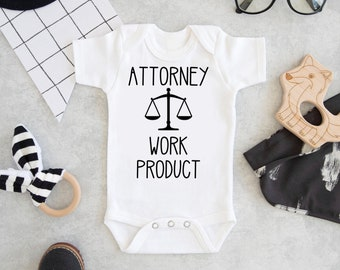06c849e418f5 Attorney Work Product Onesie, Attorney Baby Gift, Baby Shower Gift, Lawyer  Baby Gift, Work Product Onesie, Attorney Onesie, Legal Onesie