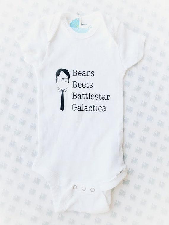 414232f9051b The Office Bears Beets Battlestar Galactica Onesie