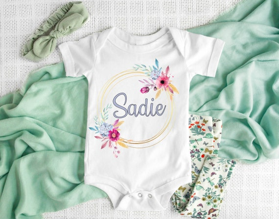 Personalised Baby Boy//girl Vest Embroidered onsie,Nice to meet you!New baby gift