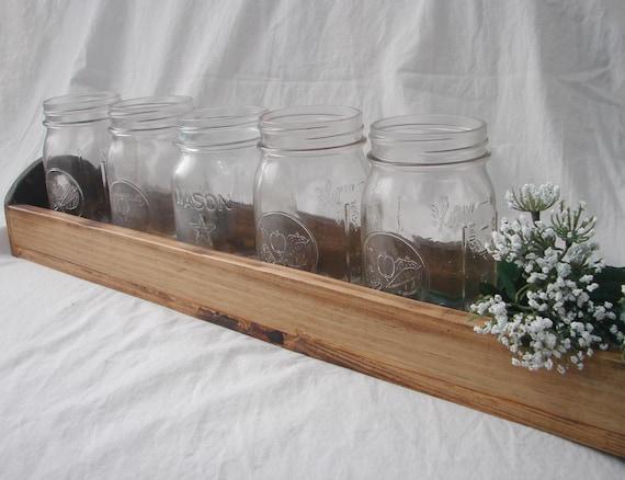 Wood Mason Jar accent