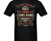 Vintage July 1988 Birthday gift birth year Original funny Unisex T-Shirt