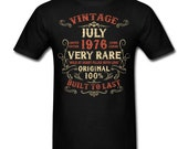 Vintage July 1976 Birthday gift birth year Original funny Unisex T-Shirt