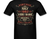 Vintage July 1982 Birthday gift birth year Original funny Unisex T-Shirt