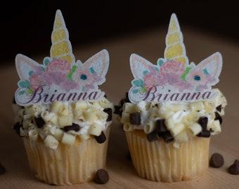 Edible Unicorn Cupcake Toppers Etsy