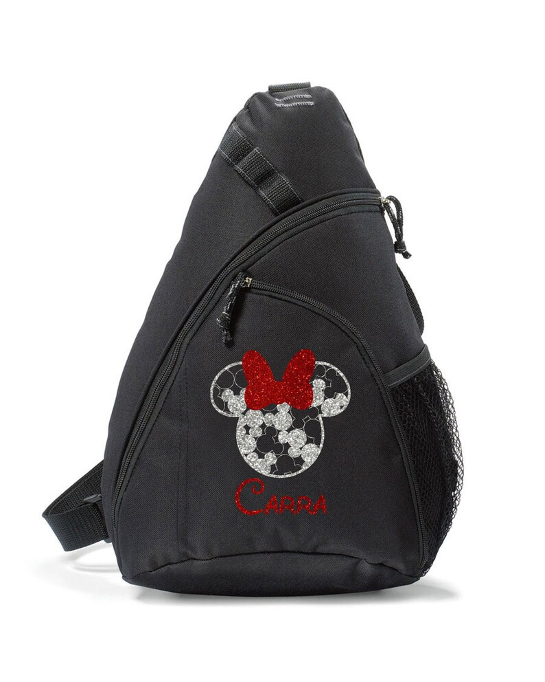 Glitter Minnie,Minnie Sling bag,Castle sling bag,Minnie backpack,vacation bag,Cheer Bag,Disney Cheerleading Bag