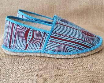 Keran espadrilles in original wax, mixed, hand-stitched