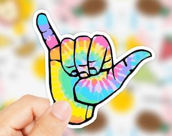 155a9da883f Shakka Hand Sticker - Shakka Hippie Sticker - Beach Stickers - Shaka Hand  Sticker - Tie Dye Hand Sticker - Surfer Sticker - Hawaii Sticker