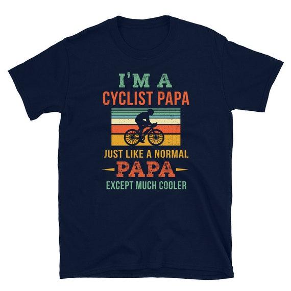Funny Cyclist Shirt Papa Gift Bicycle Lover Shirt Mountain Bike Gift Cyclist Gift Retro Biking Shirt Papa Wheelie Garage Shirt