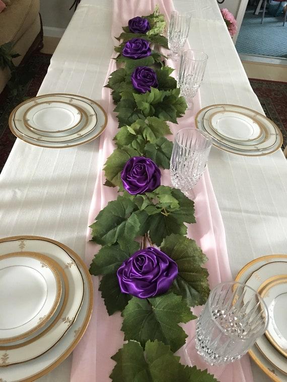Ivy Wedding Table Garland Reception Table Runner Wedding Etsy