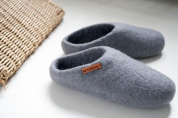 Pantoufles en feutre, Chaussons en laine 100% Feltiness