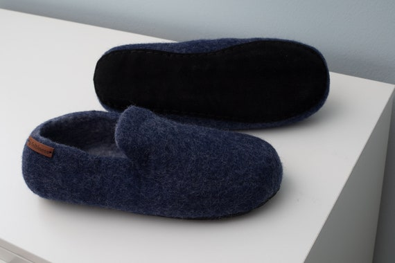 with Slippers 100 Feltiness leather sole handmade Wool Felt q57WXdSTBq