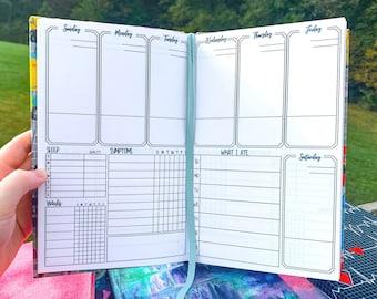 Undated Symptom Journal, Weekly Chronic Illness Pain Diary Log for Spoonies, Customizable