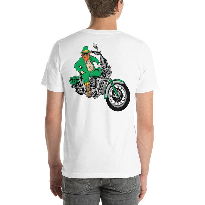 2c56a6b5 St Patricks Day Shirt Motorcycle Biker Leprechaun Dude Riding | Etsy