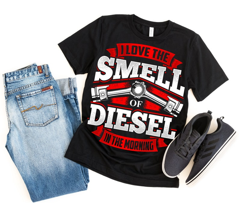 af5f42a82 Truck Driver Shirt Unisex Trucker I Love The Smell Of Diesel   Etsy