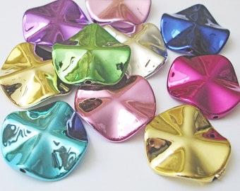 Mix Acrylperlen Kunststoffperlen 12mm 10 Stück #K028 AB glänzend