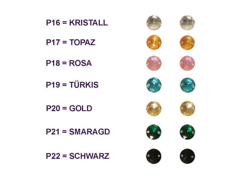 colours-gold Rhinestone seams 30 pieces 7 colours to choose from 8 mm without version