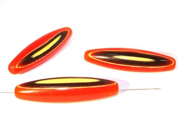 X 10mm Abalorios Acrílicos Tubo Negro O Blanco 50 un