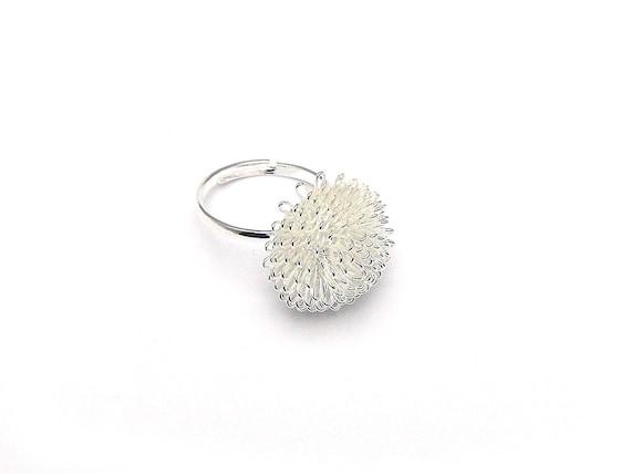 Ringrohling Fingerring Igel 20mm Silber #U103//3